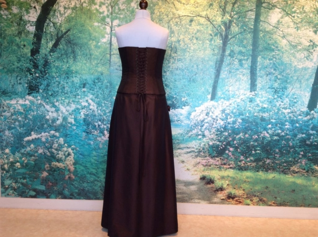 Robe bustier longue rebrodée de perles #2