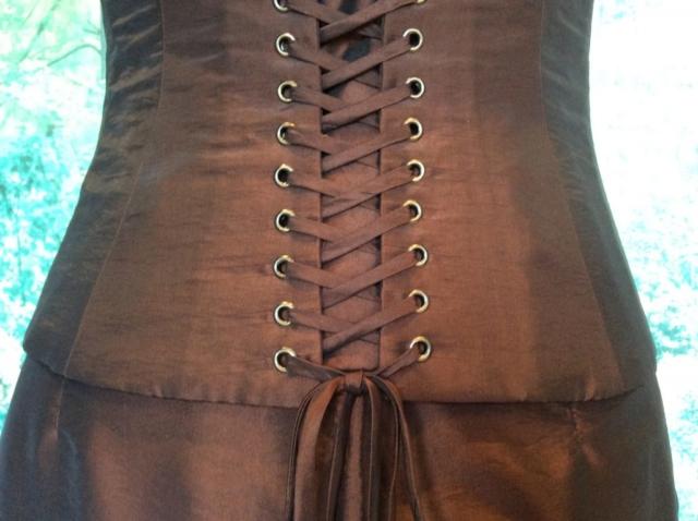 Robe bustier longue rebrodée de perles #3