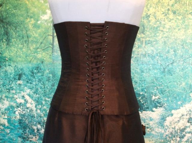 Robe bustier longue rebrodée de perles #4