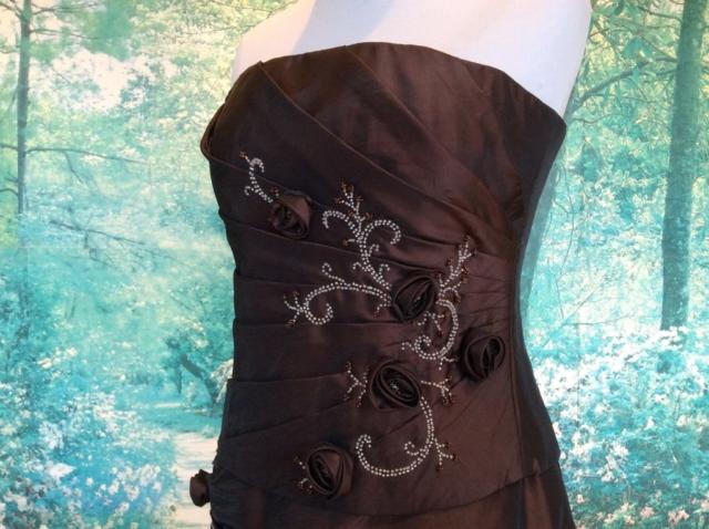 Robe bustier longue rebrodée de perles #6