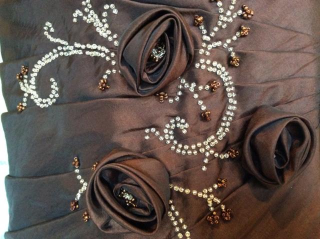 Robe bustier longue rebrodée de perles #8