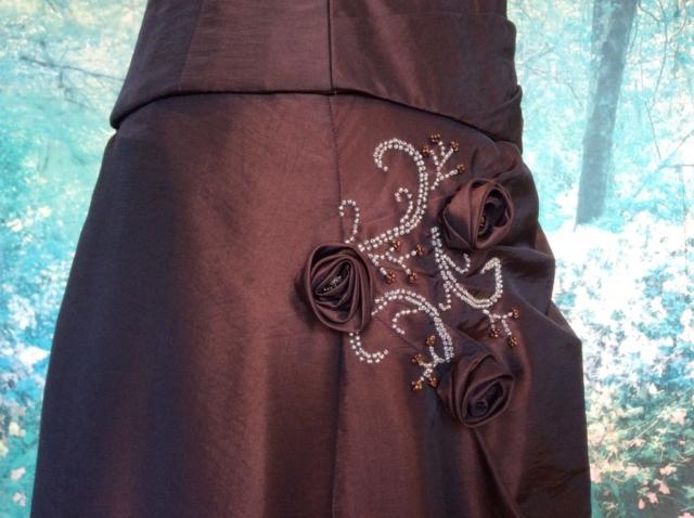 Robe bustier longue rebrodée de perles #9