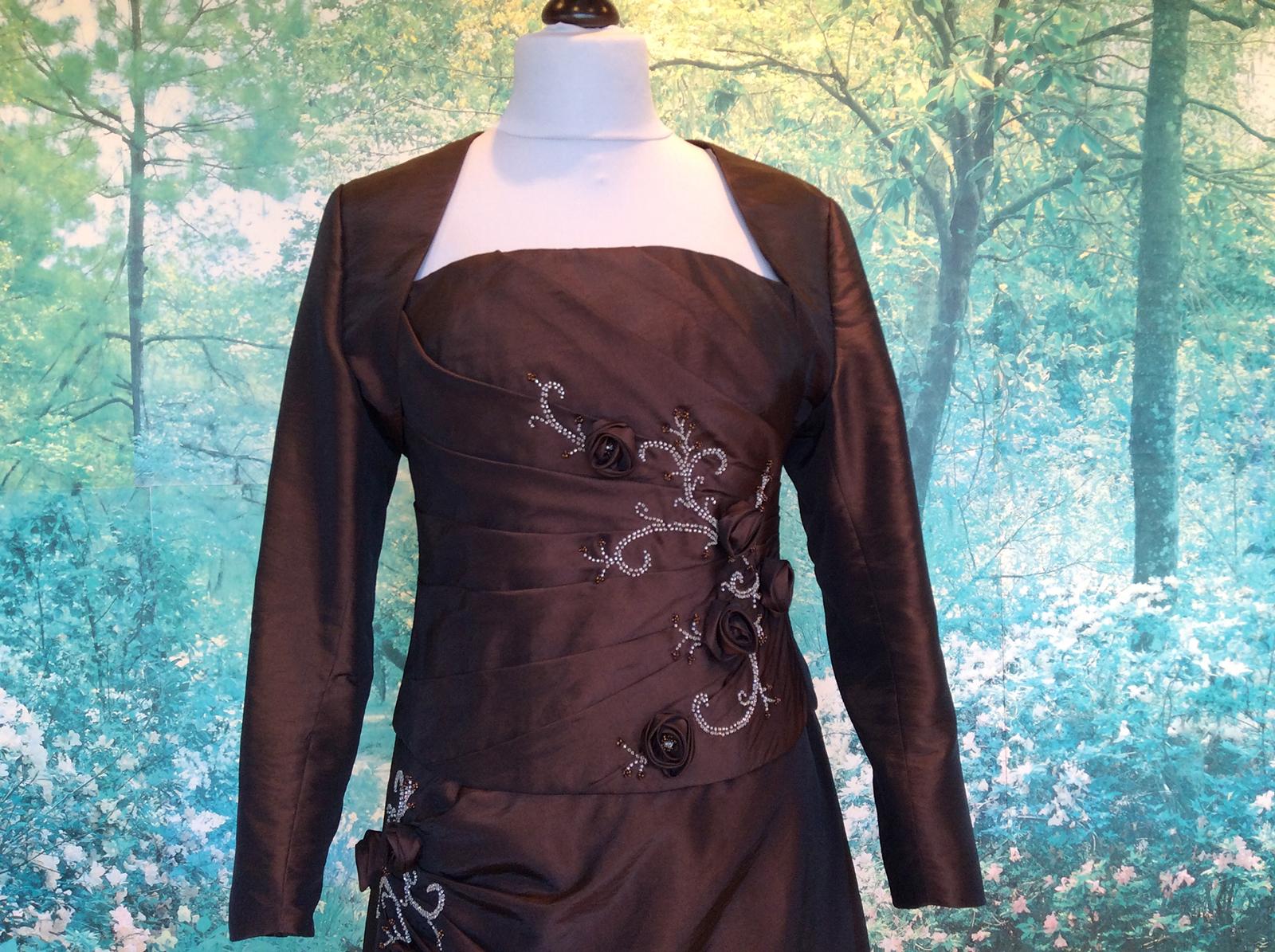 Robe bustier longue rebrodée de perles #10
